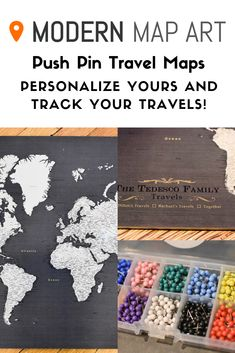 Our personalized push pin world map is the best gift to give the world traveler in your life! We can personalize it with their name, legend, and also custom text for each pin color. Plus, we include over push pins in 10 colors so they'll be sur World Map Pin Board, World Map With Pins, Push Pin World Map, Travel Map Pins, Travel Maps, Travel Icon, China Travel, Paris Travel, World Travel Decor
