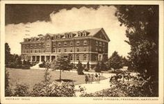 Frederick Maryland~Hood College~Meyran Hall~Dormitory~Co-eds PC Hood College, Social Security Office, Frederick Maryland, Restaurant Guide, Parks And Recreation, Vintage Postcards, 1940s, Dormitory, Mansions