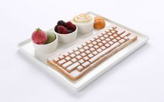Cafe Serves Keyboard Waffles And Mouse Treats