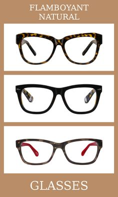 3 Pairs of Glasses for the flamboyant natural body type, one of thirteen Kibbe body types. Flamboyant naturals have broad and blunt bodies, but with some added length and angularity.   The glasses that suit them the most are thick, large, and a tortoiseshell pattern is always best.   Learn more about the Kibbe body types at cozyrebekah.com