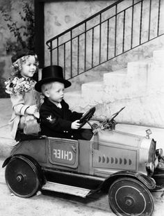 Shirley Temple and Baby LeRoy, 1934.