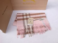 Pink Burberry Scarf