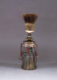 ROBOT SCULPTURE Assemblage art sculpture by CastOfCharacters23