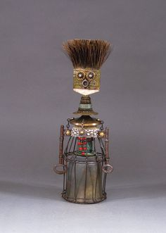 ROBOT SCULPTURE Assemblage art sculpture by CastOfCharacters23