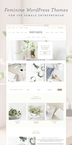 I love these feminine Wordpress themes from Restored 316 Designs! Perfect for any female entrepreneur or blogger. (affiliate link)