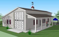 Bradley Mighty Steel RV Garage for sale, RV Shelter pricing Rv Garage Plans, Garage Plans With Loft, Garage Apartment Plans, Pole Barn House Plans, Garage Apartments, Pole Barn Homes, Garage Ideas, Pole Barns, Barn Garage