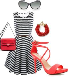 A little red, created by hunneybunn on Polyvore