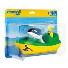 Playmobil 6739 - Łódź Rybacka z figurką Rybaka i Pływająca Orka - Zestaw Playmobil dla dzieci 1-3