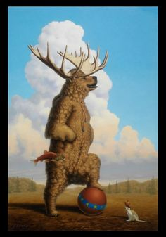 When Griz Grew Up He Wanted To Be A Moose by LindaRHerzog on DeviantArt