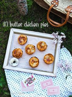 Li'l Butter Chicken Picnic or Party Pies!