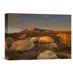 Global Gallery El Capitan Guadalupe Mountains National Park Texas Canvas Wall Art, Brown
