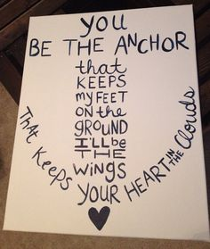 You be the Anchor -Navy and Blue on Etsy, $15.00