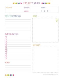 Project Planner Free Download http://maxinereneedesigns.blogspot.com/2014/01/project-organization-printables-free.html