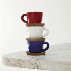 Höganäs espressomugg med fat - grey mat - Höganäs