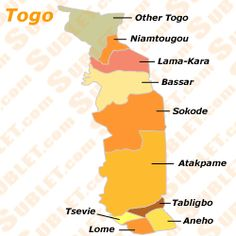 Togo Atlas: Maps and Online Resources | Infoplease.| Africa
