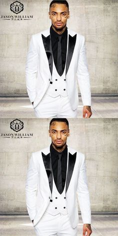 a943988ff LN066 Classic quality white men suit tuxedos costume home business suit  wedding suits for men white