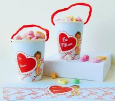 Valentine's Day Paper Cups Wrappers