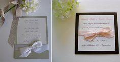 Convites de casamento delicados