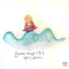 Buddha doodle: Breath through life's ups and downs Baby Buddha, Little Buddha, Buddha Zen, Namaste, Buddah Doodles, Buddha Thoughts, Buddha Wisdom, Buddha Sayings, Buddhist Quotes