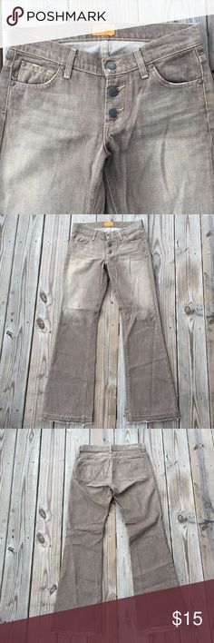 James Preserved Denim Jeans Size 27 James Preserved Denim Jeans  Size 27  Button Fly Flare Wide Leg Distressed Hem   Has stains on the back between back pockets (see photo).  Save on a bundle! Lots of clothes, bags, jewelry and new boutique items. Great for gift giving. I love accepting offers. James Jeans Jeans Flare & Wide Leg