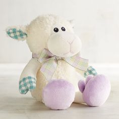 Pearl The Lamb With Bunny Shoes Stuffed Animal Ivory