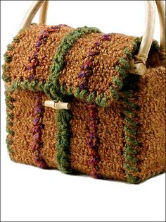 Crochet - Accessories - Crochet Handbag Patterns - Homespun Tote - #FC00914