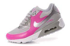 Nike Air Max 90 Hyperfuse Womens White/Metallic Silver-Pink-Grey