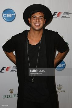 DJ Timmy Trumpet poses during the GP Official Australian Grand Prix Party at Club 23 on March 2015 in Melbourne, Australia. Australian News, Australian Grand Prix, Rock N Roll Costume, Rock Festivals, Dj Music, Electronic Music, Trumpet, Formula 1, Edm