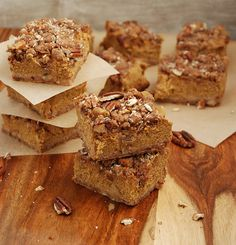 Pumpkin Pecan Pie Bars #paleo #pumpkin