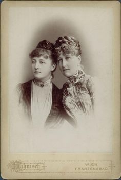 Crownprincess Stephanie of Austria (neé Princess of Belgium) with Archduchess Maria Dorothea of Austria, later Duchess of Orleans, 1880s