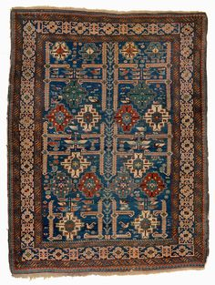Quadrifoglio Gallery A Fine Antique Caucasian Shirvan Rug With Well Articulated Kufic Border Oriental Rugsbostona