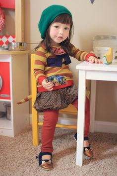 Do they make that outfit in grown up size? Little Girl Fashion, Kids Fashion, Little Fashionista, Little Doll, Mode Vintage, Stylish Kids, Kid Styles, Kind Mode, Kids Wear