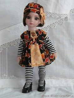 Patsy-Anne-Estelle-Tonner-10-fashion-OOAK-Falling-Leaves-dress-handmade-by-JEC. SOLD for $30.00, one bid, 9/21/4.