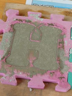 Letter stepping stones....I soooo want to try this!