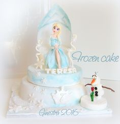 torta frozen - Elsa e Olaf | Ginestra ::: blog per cuori golosi