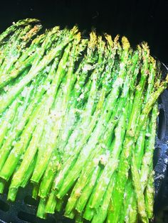 Garlic Parmesan Air Fryer Asparagus - Cooks Well With Others This was some of the best asparagus I've had. I gave it a toss in the fryer with four minutes to go. Parmesan Asparagus, Asparagus Fries, Zucchini Fries, Garlic Parmesan, Asparagus Recipe, Asparagus Quiche, Parmesan Recipes, Air Fryer Recipes Vegetables, Air Fryer Oven Recipes