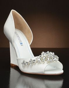 Wedding Wedges - nice for an outdoor ceremony, wouldn't have to worry about heels sinking into the ground!