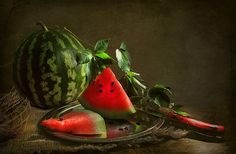 Even the photograph is mouth-watering! - Still life with water melon by shandas - Pixdaus