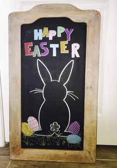 Easter chalkboard art