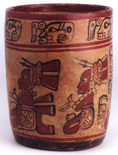 Mayan Polychrome Cylinder Vessel   Origin: El Salvador  Circa: 500 AD to 900 AD