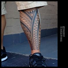 Tribal leg sleeve by Rory Keating - Guru Tattoo - San Diego, CA. #gurutattoo