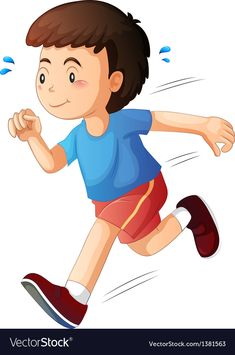 A kid running Royalty Free Vector Image - VectorStock