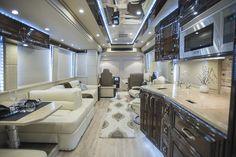 2016 Prevost Emerald For Sale Bus Living, Home And Living, Tour Bus Interior, Luxury Rv Living, Rv Floor Plans, Airstream Rv, Luxury Motorhomes, Rv Financing, Rv Homes