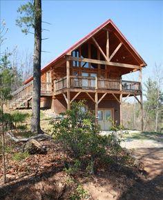 Cabin, 2 Bedrooms + Loft, 2 Baths (Sleeps 6-8) Cabin vacation rental on Buck Mountain in Wilkesboro from VRBO.com! #vacation #rental #travel #vrbo http://www.vrbo.com/360862