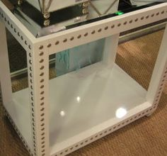 nailhead side table