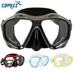 Copozz Marque Professionnel chasse sous-marine Masque de Plongée  Sous-Marine Plongée Libre Plongée En Apnée Masque Flexible Silicone Grand  Cadre lunettes f30128aaa88e