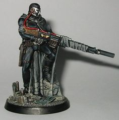 Inquisitor scale Vindicare Assassin - Painting / Conversions / Artwork - Warhammer 40k Forums