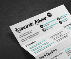 Self Promotion - Graphic design-based resumes
