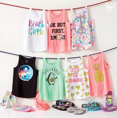Sunny styles in made-you-look graphics that pop from top to toes. - March 02 2019 at Cute Girl Outfits, Dance Outfits, Kids Outfits, Cool Outfits, Tween Fashion, Little Girl Fashion, Fashion 101, Justice Bags, Justice Stuff