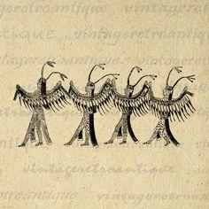 Native American Indians Digital Image Download Printable Graphic Vintage Clip Art Jpg Png Eps 18x18 HQ No.3337 @ vintageretroantique.etsy.com #DigitalArt #Printable #Art #VintageRetroAntique #Digital #Clipart #Download